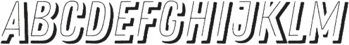 Zing Rust Line Shadow2 otf (400) Font LOWERCASE