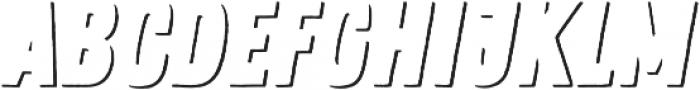 Zing Rust Shadow1 otf (400) Font LOWERCASE