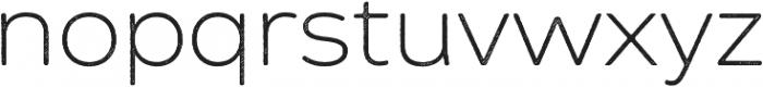 Zing Sans Rust Light Base Line Diagonals otf (300) Font LOWERCASE