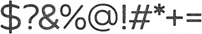 Zing Sans Rust Regular Base Halftone A otf (400) Font OTHER CHARS