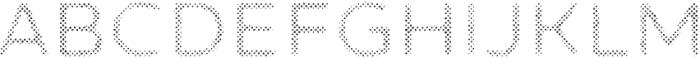 Zing Sans Rust Semibold FIll Halftone A otf (600) Font UPPERCASE