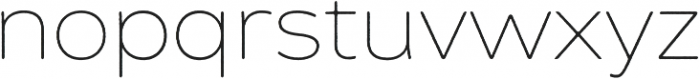 Zing Sans Rust Thin Base otf (100) Font LOWERCASE