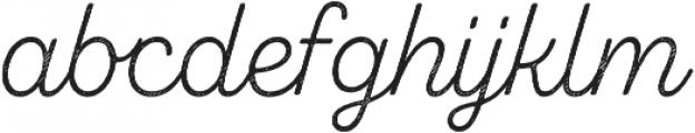 Zing Script Rust Light Base Line Diagonals otf (300) Font LOWERCASE