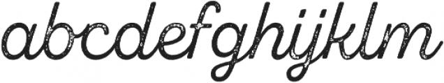 Zing Script Rust Regular Base Grunge otf (400) Font LOWERCASE
