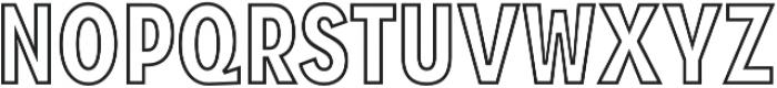 Zippy Gothic Black Condensed Outline otf (900) Font LOWERCASE