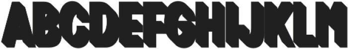 Zippy Gothic Bold Condensed 3D otf (700) Font UPPERCASE