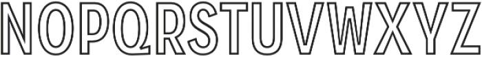 Zippy Gothic Bold Condensed Outline otf (700) Font UPPERCASE