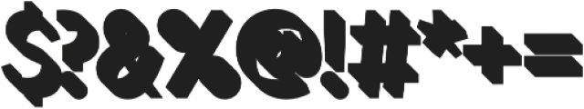 Zippy Gothic Regular 3D otf (400) Font OTHER CHARS