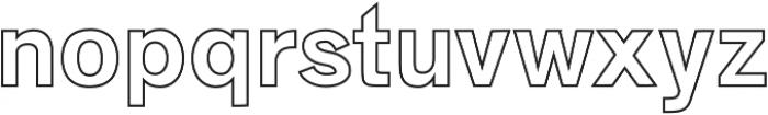 Zisel Outline otf (400) Font LOWERCASE