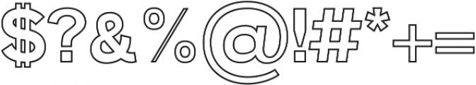 Zisel Outline ttf (400) Font OTHER CHARS