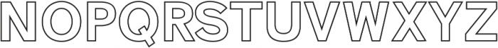 Zisel Outline ttf (400) Font UPPERCASE