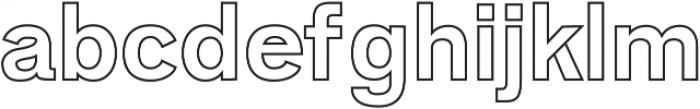 Zisel Outline ttf (400) Font LOWERCASE