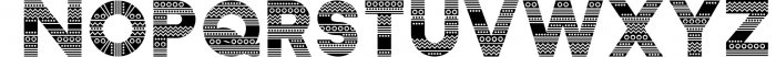 Zilap Afro Font LOWERCASE