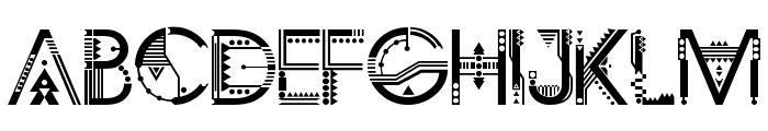 ZILAP GEOMETRIK Font UPPERCASE