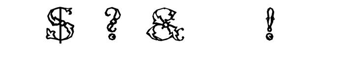 ZierCaps Font OTHER CHARS