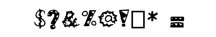 ZiggyZaggy Medium Font OTHER CHARS