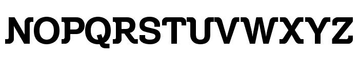 Zil Semi Slab Font UPPERCASE