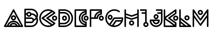 Zilap Alien Font UPPERCASE
