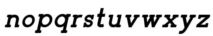 Zilap Corporative Bold italic Font LOWERCASE