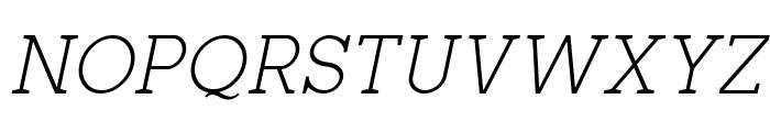 Zilap Corporative Light Italic Font UPPERCASE