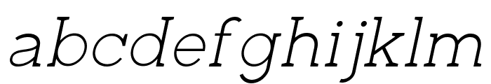 Zilap Corporative Light Italic Font LOWERCASE