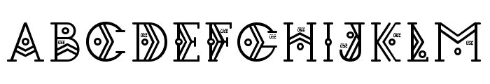 Zilap Espacial Font LOWERCASE