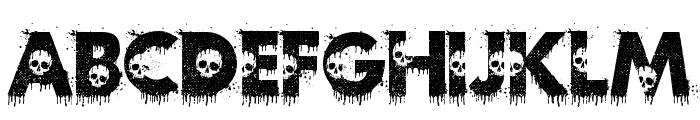 Zilap Horror Font LOWERCASE