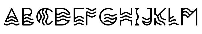 Zilap Marine Font UPPERCASE