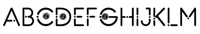 Zilap Natural Light Font UPPERCASE