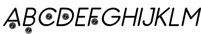 Zilap Natural italic Font UPPERCASE