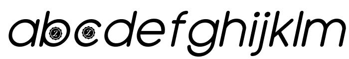 Zilap Natural italic Font LOWERCASE