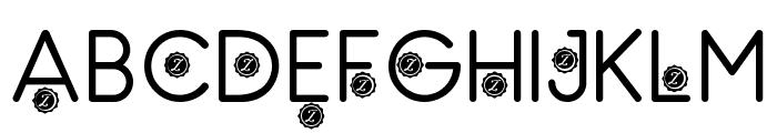 Zilap Natural Font UPPERCASE