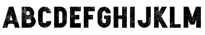Zilap Sleep Grunge Font UPPERCASE