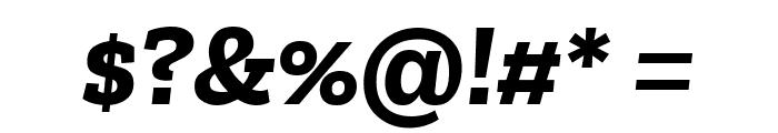 Zilla Slab Bold Italic Font OTHER CHARS
