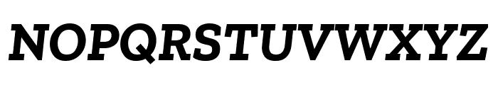 Zilla Slab Bold Italic Font UPPERCASE