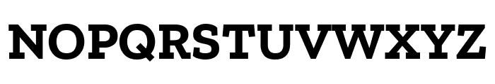 Zilla Slab Bold Font UPPERCASE