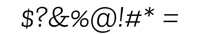 Zilla Slab Light Italic Font OTHER CHARS