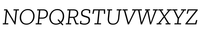 Zilla Slab Light Italic Font UPPERCASE
