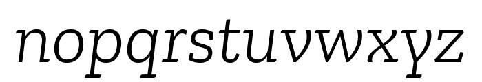 Zilla Slab Light Italic Font LOWERCASE
