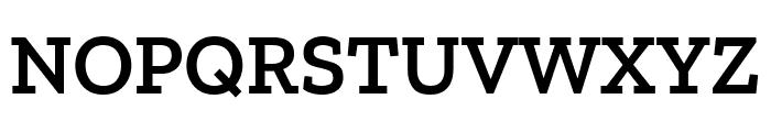 Zilla Slab SemiBold Font UPPERCASE