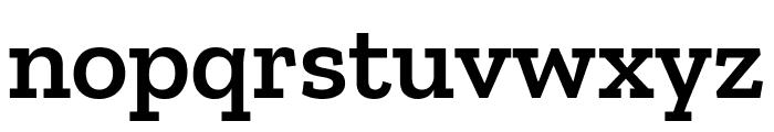 Zilla Slab SemiBold Font LOWERCASE