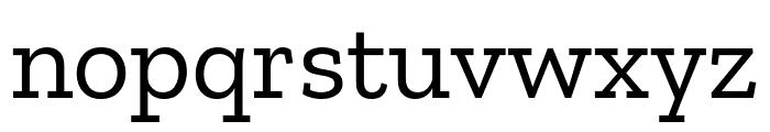 Zilla Slab Font LOWERCASE