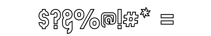 Zillah Modern Ouline Font OTHER CHARS