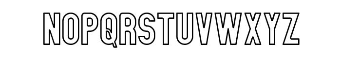 Zillah Modern Ouline Font UPPERCASE