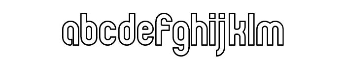 Zillah Modern Ouline Font LOWERCASE