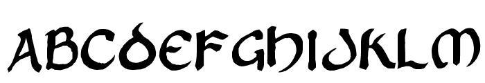 Zilluncial Font UPPERCASE