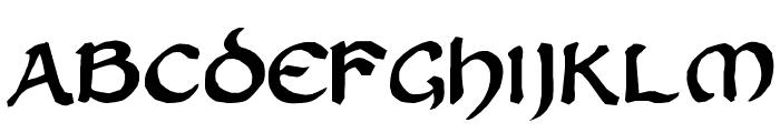 Zilluncial Font LOWERCASE