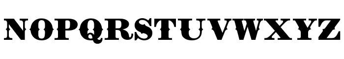 Zinfandel Spur Regular Font UPPERCASE