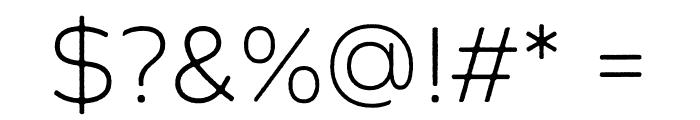 Zing Sans Rust Light Demo Base Font OTHER CHARS