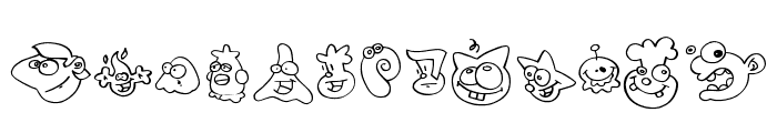 ZingDing Font UPPERCASE